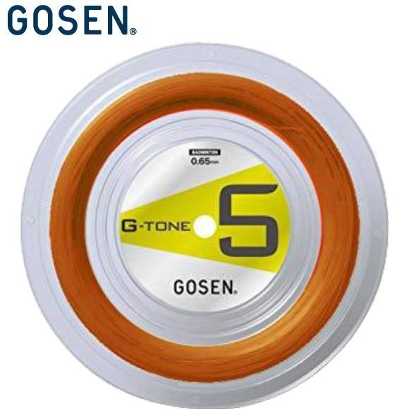 (バドミントン)ゴーセン(GOSEN) G-TONE 5 オレンジ ロール BS0653OR (取寄)