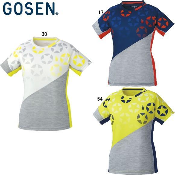 [クーポンでお得](テニス)ゴーセン(GOSEN) T1811 レディースホシガラゲームシャツ T1811 (取寄)