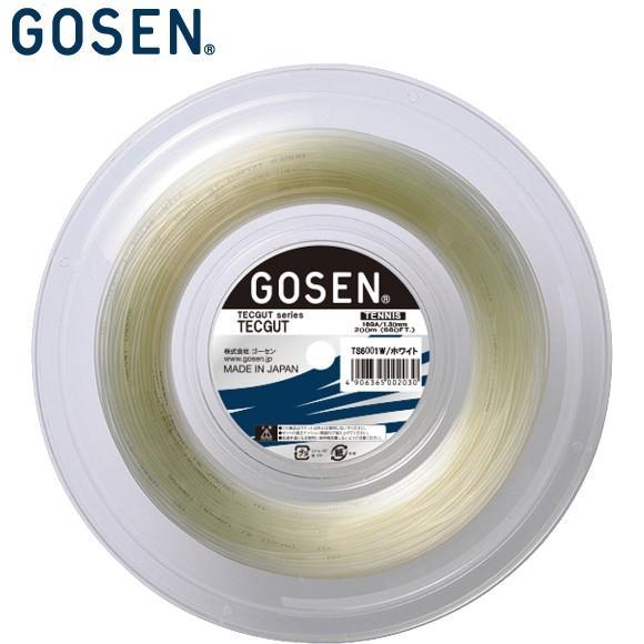 [クーポン配布中](テニス)ゴーセン(GOSEN) テックガット16 120Mロール TS6001W (取寄)
