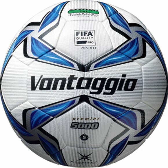 [クーポンでお得]モルテン(Molten) ヴァンタッジオ5000プレミア 5号球 ホワイト×ブルー (サッカー/ボール) F5V5003 (取寄)