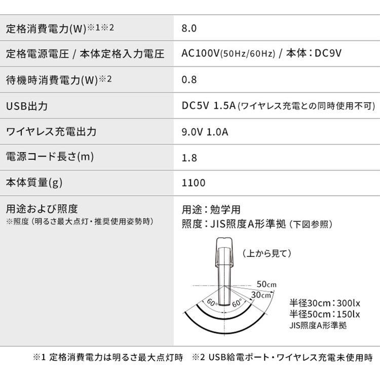 デスクライト LED おしゃれ 充電 在宅ワーク 在宅勤務 アイリスオーヤマ LEDデスクライトQi充電シリーズ 縦置きタイプ 調光 調色 LDL-QLDL joylight 18