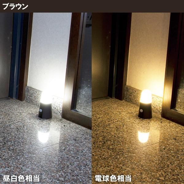 センサーライト LED 乾電池式 人感センサー 屋内 室内 照明 明るい スタンドタイプ 引っ掛け BSL40SN-W・BSL40SL-W アイリスオーヤマ joylight 05
