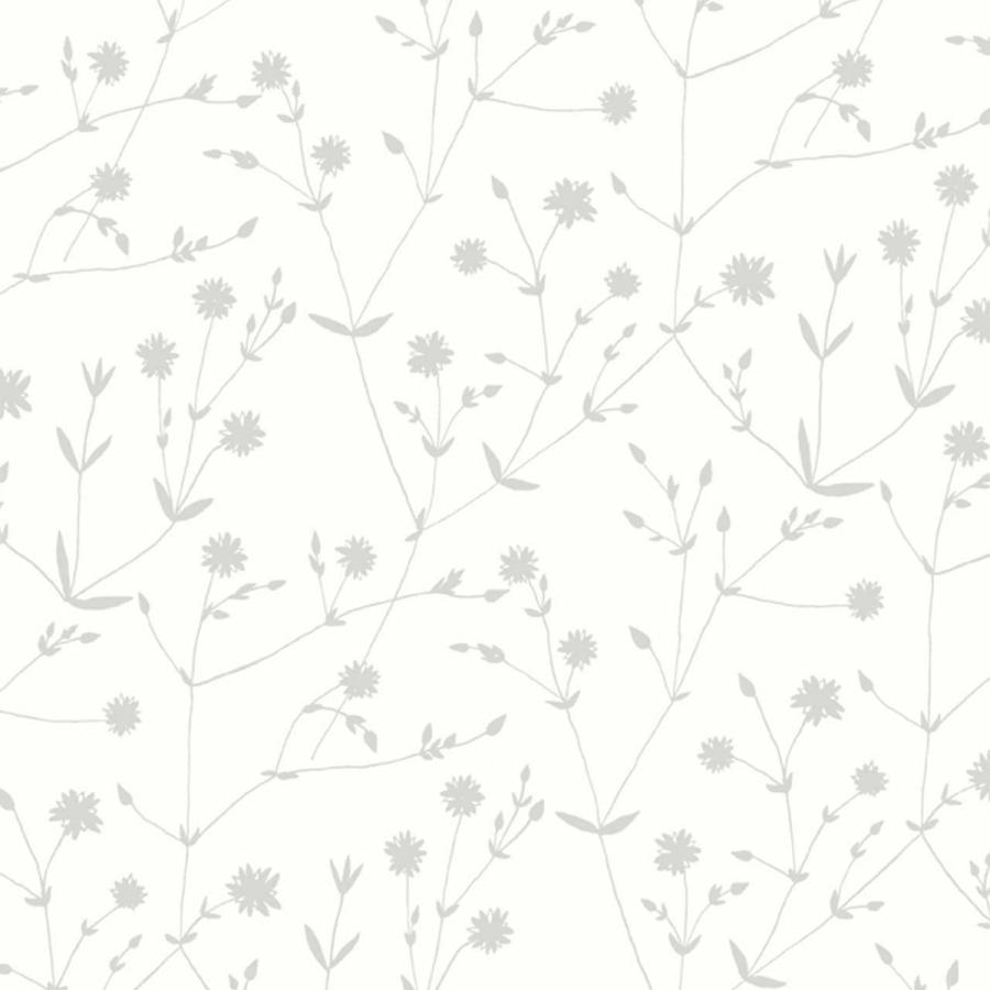 Marimekko Illalla 17967 白 マリメッコ イッラッラ 壁紙 フラワー