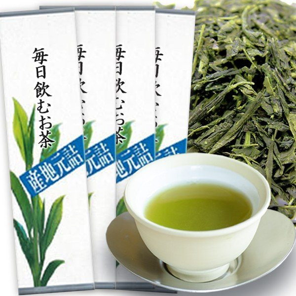 茶和家 毎日飲むお茶 500g x 4個 送料無料(関東⇔関西)【お茶 緑茶 日本茶 深蒸し茶 煎茶】