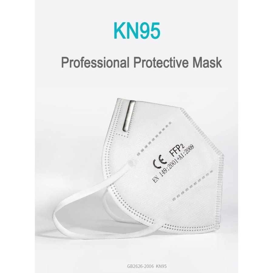 KN95マスク 5枚入り 使い捨て 不織布 フリーサイズ  PM2.5 花粉症 感染 飛沫対策 ウイルス 男女兼用 大人用 マスク在庫あり 国内発送 H jplamp 04