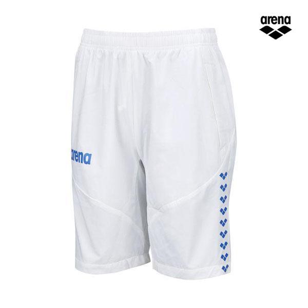 水泳 競泳 チームウェア ウインドハーフパンツ ホワイト×ブルー ARN-9332P-WTBU <2019-2020FWNEW>