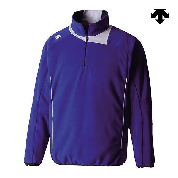 デサント 野球 トレーニングウェア フリースジャケット Dロイヤルブルー×シルバー DBX-2460JB-DROY <2019FWCON>