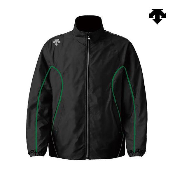 バレーボール チームウェア エクスプラスサーモ ジャケット ブラック×グリーン DTM-3912-BLG <2019-2020FW>