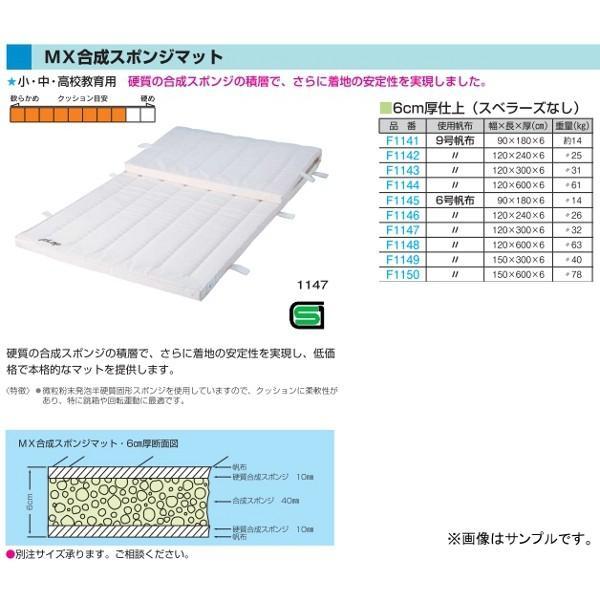 フラップ 学校 体育 体操マット MX合成スポンジマット 6号帆布 150×600×6cm 1150 <2019NP>