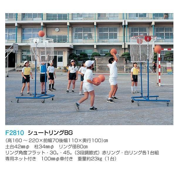 フラップ 学校 体育 シュートリングBG(赤リング・白リング各1台組) 2810 <2019NP>
