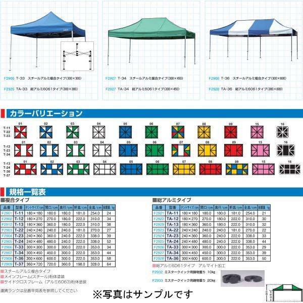 フラップ 学校 体育 運動会 体育祭 ミスタークイックテント 複合タイプ T-24(240×480cm) 2905 <2019NP>