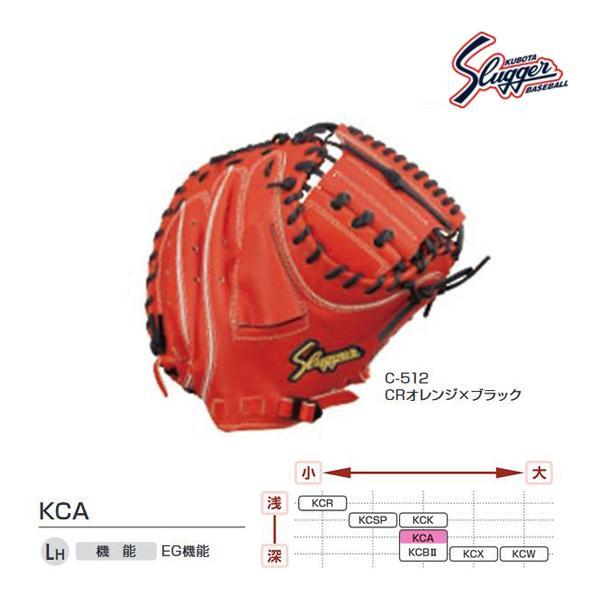クボタスラッガー 野球 硬式用キャッチャーミット CRオレンジ×ブラック KCA-C-512 <2020NP>