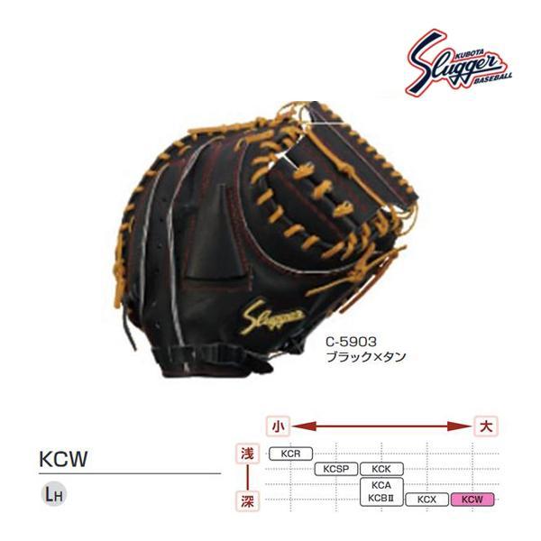 クボタスラッガー 野球 硬式用キャッチャーミット ブラック×タン KCW-C-5903 <2020NP>