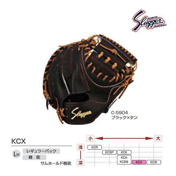 クボタスラッガー 野球 硬式用キャッチャーミット ブラック×タン KCX-C-5904 <2020NP>