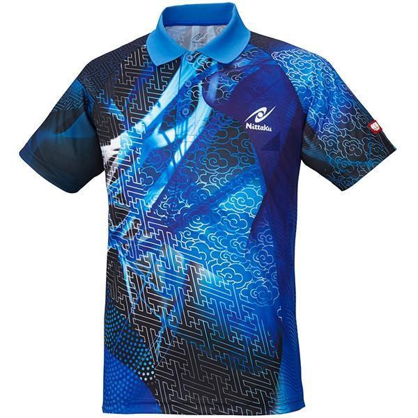 ニッタク 卓球 ウェア クラウダーシャツ ブルー NW-2177-09 <2019CON>