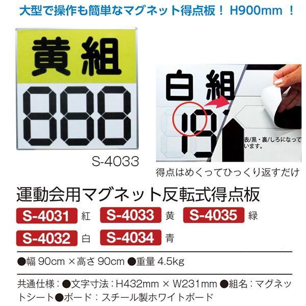 三和体育 運動会用品 運動会用マグネット反転式得点板 青 S-4034 <2019NEW>