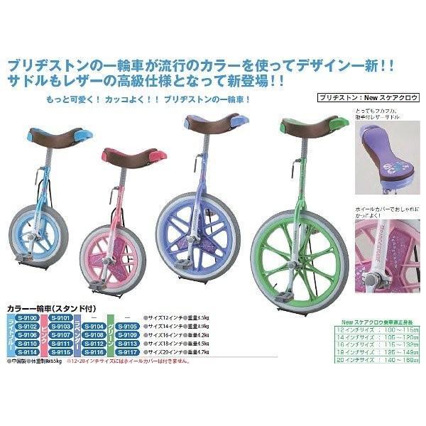 三和体育 カラー一輪車 16インチ (グリーン) S-9109 <2019CON>