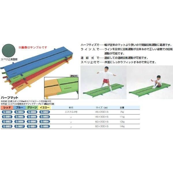 三和体育 ハーフマット (レッド) 45×200×5 S-9880 <2019CON>
