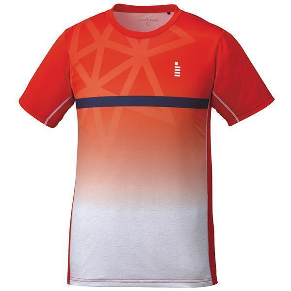 ゴーセン テニス ソフトテニス バドミントン ユニセックス ゲームシャツ レッド T1824-27 <2019CON>