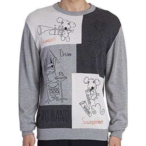 MU SPORTS(エム ユースポーツ) 2016AWシリーズ メンズ セーター 700U6250 グレイ 52 700U6250