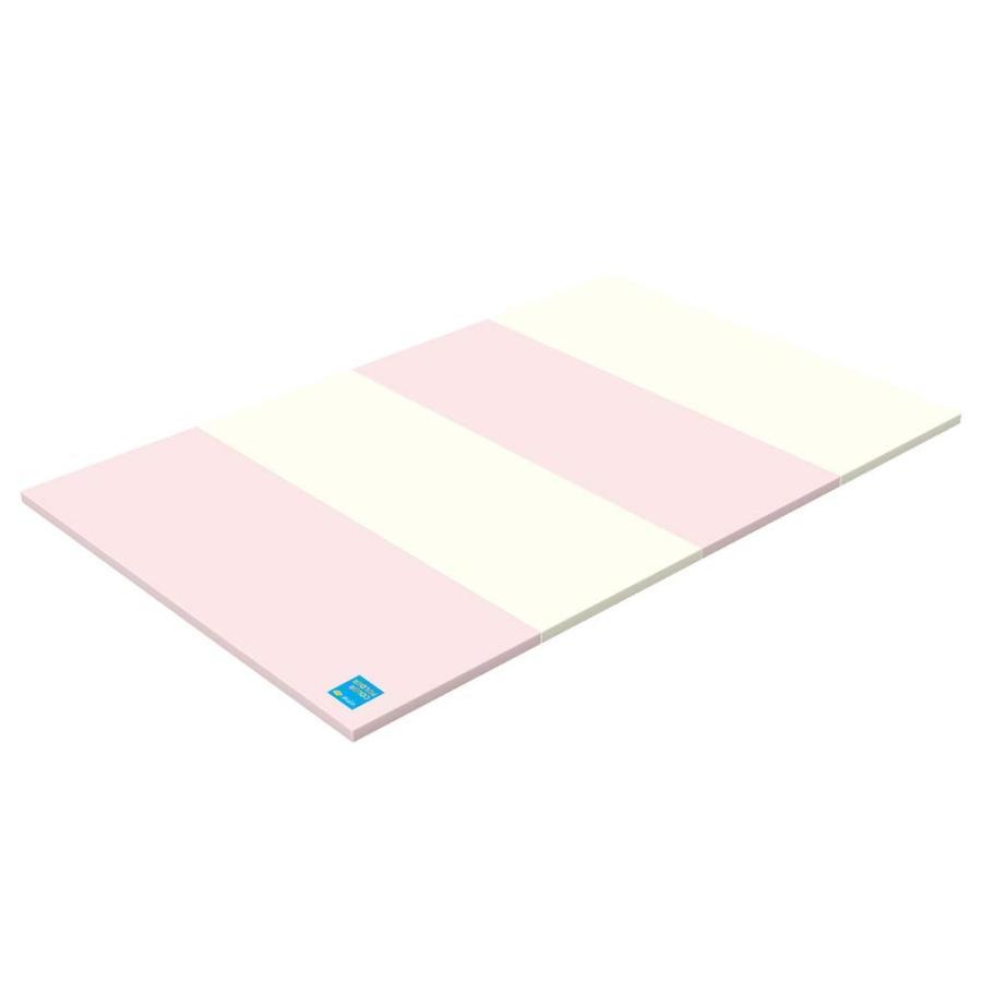 ALZIP mat エコカラー 【子供用プレイマット】 デュオピンク(200x120x4cm) 国際検査済みPU素材
