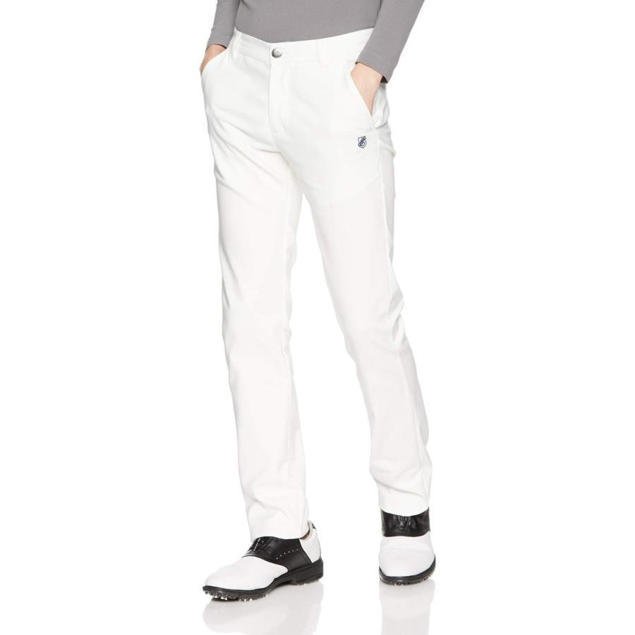 [エフィカスオム] 綿ナイロンストレッチ テーパードロングパンツ メンズ 1808-5698 ホワイト