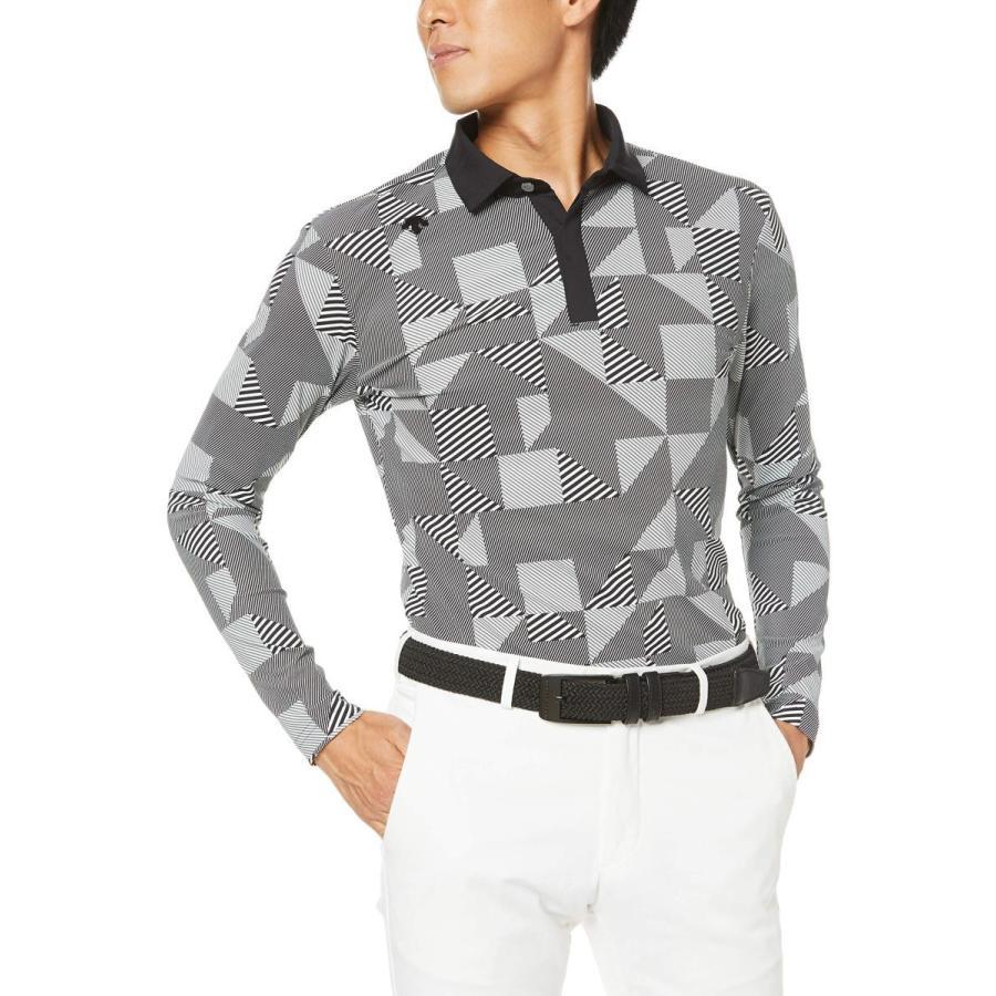 [デサントゴルフ] 長袖シャツ DGMOJB01 メンズ ブラック