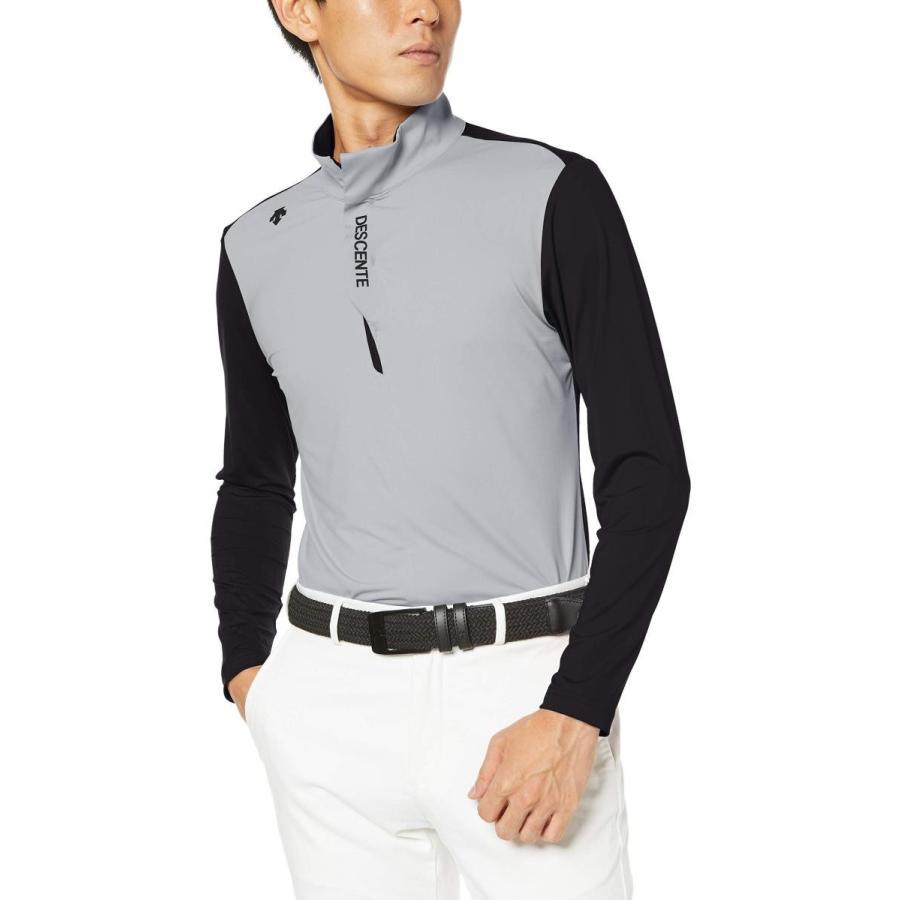 [デサントゴルフ] 長袖シャツ DGMOJB00 メンズ ブラック