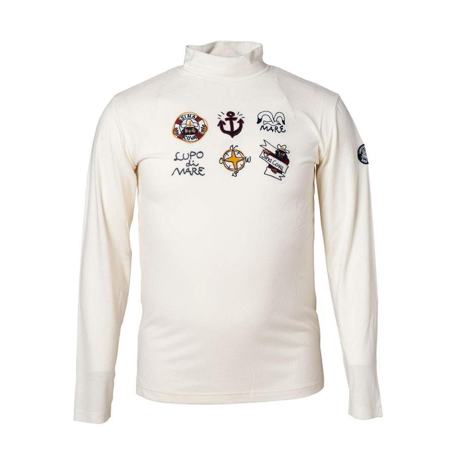 (シナコバ) SINA COVA メンズ ハイネック長袖Tシャツ マリン ゴルフウェア 19220050 (オフ)