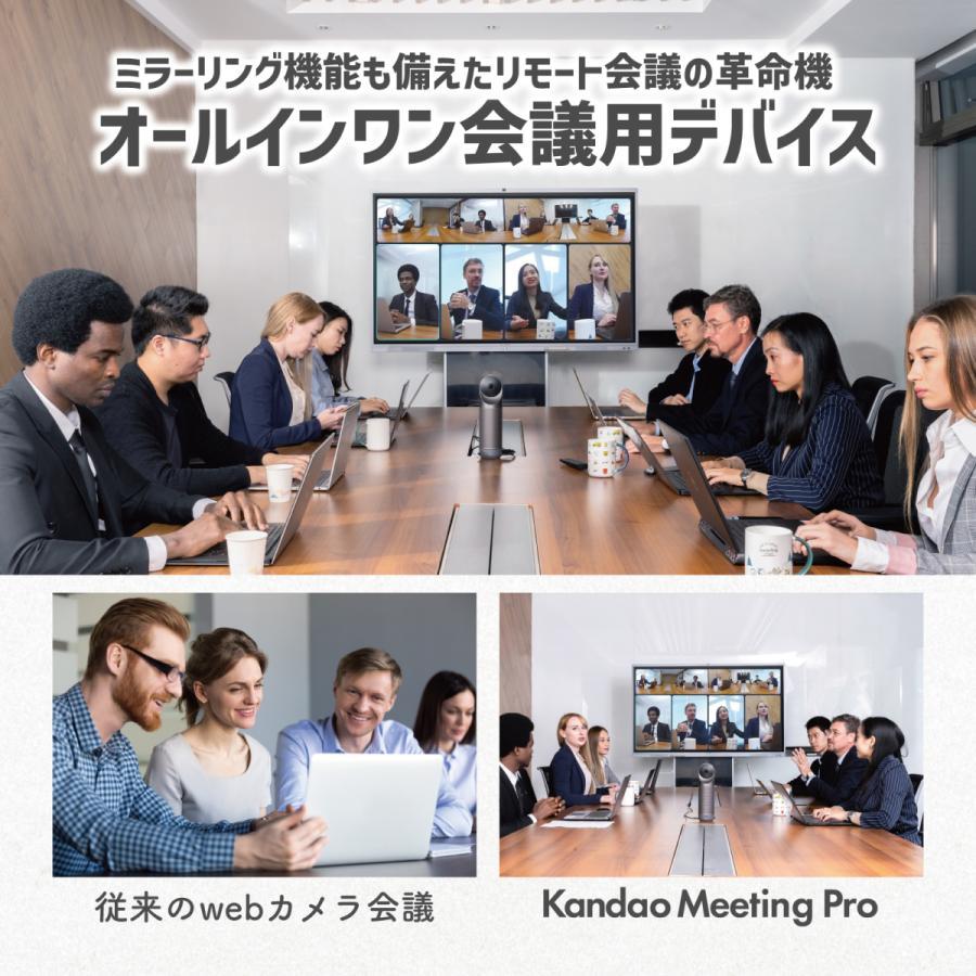 360度WEBカメラ 360度ウェブカメラ Kandao Meeting Pro AI機能搭載360度会議用カメラ 全指向性マイク スピーカー Androidシステム搭載 マイク内蔵|jpstars|02
