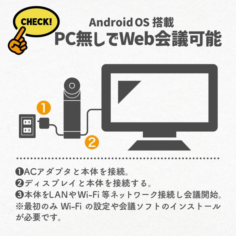 360度WEBカメラ 360度ウェブカメラ Kandao Meeting Pro AI機能搭載360度会議用カメラ 全指向性マイク スピーカー Androidシステム搭載 マイク内蔵|jpstars|06