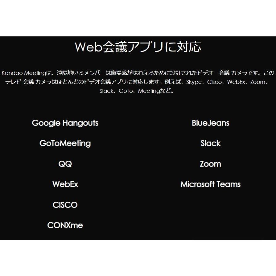 WEBカメラ マイク内蔵  テレワーク対策 ウェブカメラ 360度ウェブカメラ KandaoMeeting 360度ビデオ会議カメラ 遠隔教育 ウェブ会議 ビデオ会議 遠隔教育|jpstars|09