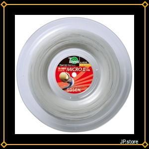 ゴーセン(GOSEN) オージー・シープ ミクロII16L ロール220m (テニス用) ホワイト TS4132W