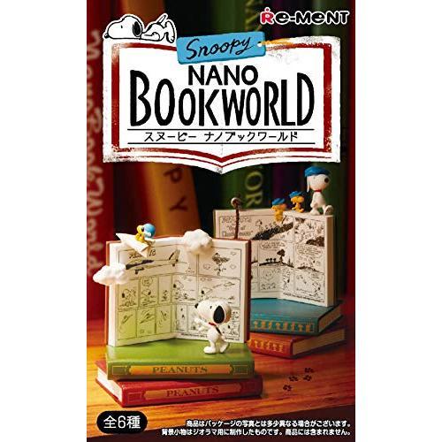◆新品◆Snoopy NANO BOOK WORLD BOX商品 1BOX=6個入り、全6種類(在庫あり)