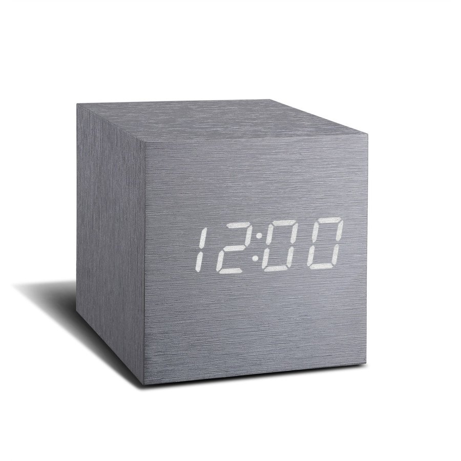 目覚まし時計 おしゃれ 北欧 置時計 デジタル CUBE click clock jpt-teds 06