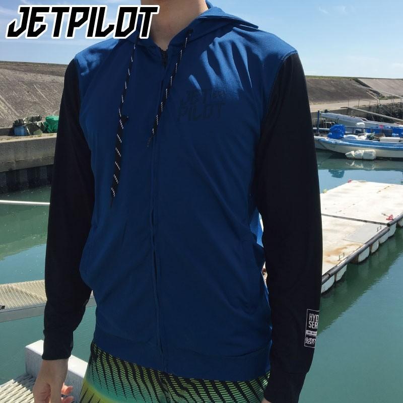 【30%OFF】ジェットパイロット SHOWTIME RASH HOODIE メンズ ファスナー フード パーカー ラッシュガード ジェットスキー  海水浴 リゾート JETPILOT W18829