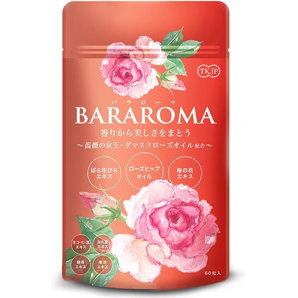 BARAROMA ローズサプリ バラ 30日分 60粒 香り サプリメント 口臭 体臭 汗臭 加齢臭対策 ダマスクローズ ローズヒップ セール|jtr-store