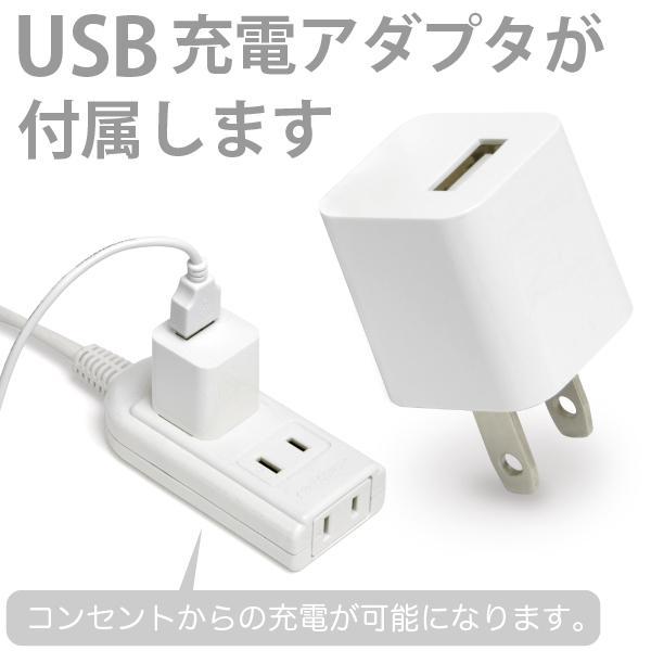 ((USB充電器付))両耳で使える 集音器 2個セット USB充電式 福耳 アイ + USB AC 白 セット  耳かけ式 補聴器形状タイプ FUKUMIMI Ai 大中小3種のイヤーピース|jttonline|02