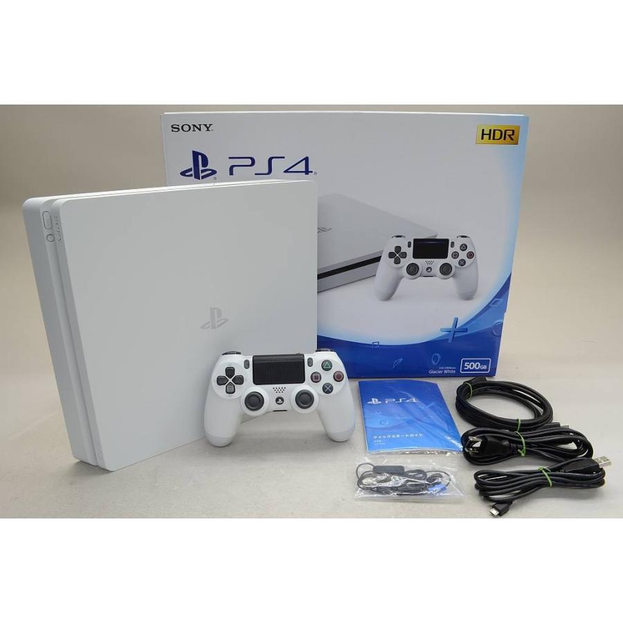 [中古] PlayStation4 グレイシャー・ホワイト (500GB) CUH-2100AB02