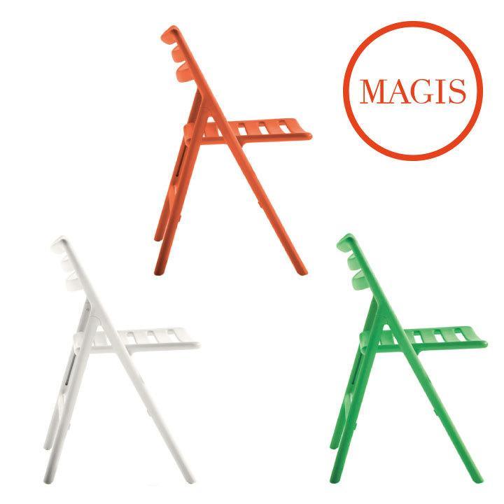 屋外用 ガーデンチェア アウトドア デッキ 折り畳み 椅子 「MAGIS Folding Air Chair フォールディング エアチェア アーム無し」 受注輸入 キャンセル不可