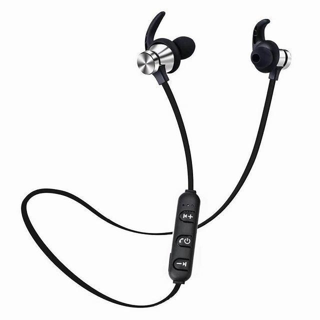 Bluetooth 5.0 ヘッドセット スポーツ ステレオヘッドセットワイヤレス イヤホン ハンズフリー骨伝導イヤフォンB jumbo111