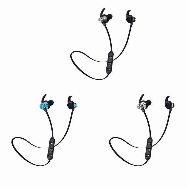 Bluetooth 5.0 ヘッドセット スポーツ ステレオヘッドセットワイヤレス イヤホン ハンズフリー骨伝導イヤフォンB|jumbo111