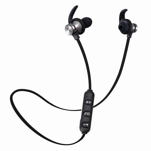 Bluetooth 5.0 ヘッドセット スポーツ ステレオヘッドセットワイヤレス イヤホン ハンズフリー骨伝導イヤフォンB|jumbo111|07