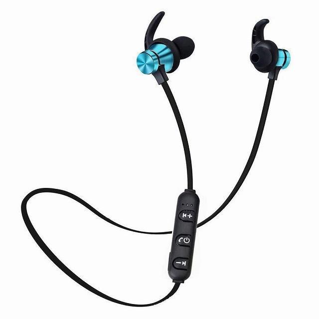 Bluetooth 5.0 ヘッドセット スポーツ ステレオヘッドセットワイヤレス イヤホン ハンズフリー骨伝導イヤフォンB|jumbo111|08
