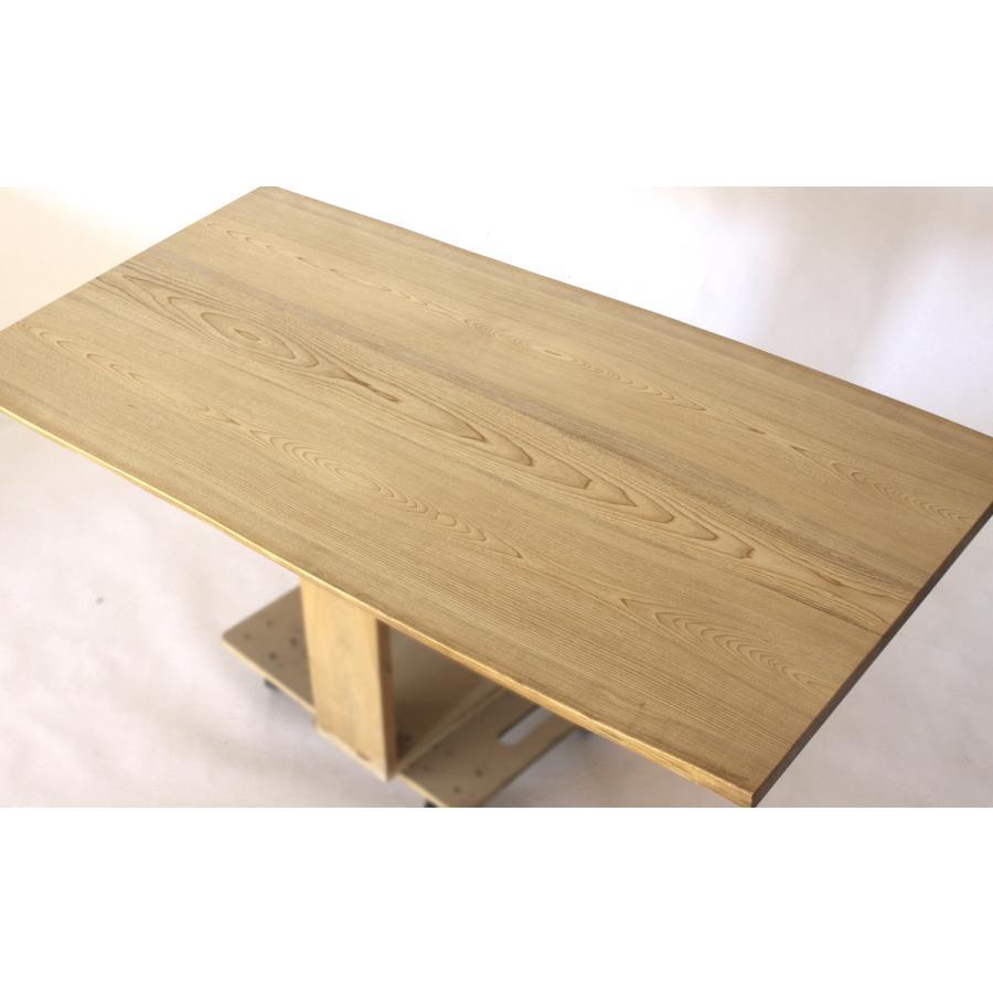 150x約80cm 国産無垢材ダイニングテーブル(オイル仕上)【岩泉純木家具公式ストア】 高さ1ミリ単位でオーダー可能 T型脚 セン材 ローテーブル 一枚板風|junboku|03