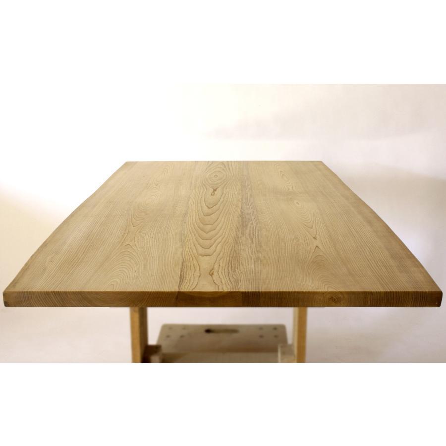 150x約80cm 国産無垢材ダイニングテーブル(オイル仕上)【岩泉純木家具公式ストア】 高さ1ミリ単位でオーダー可能 T型脚 セン材 ローテーブル 一枚板風|junboku|04