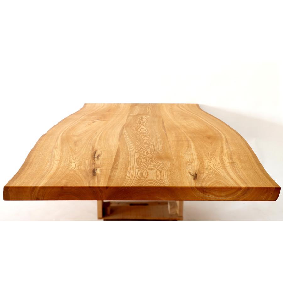 200x約100cm 国産無垢材ダイニングテーブル(オイル仕上)【岩泉純木家具公式ストア】 高さ1ミリ単位でオーダー可 T型脚 セン材 ローテーブル 一枚板風 北欧|junboku|04