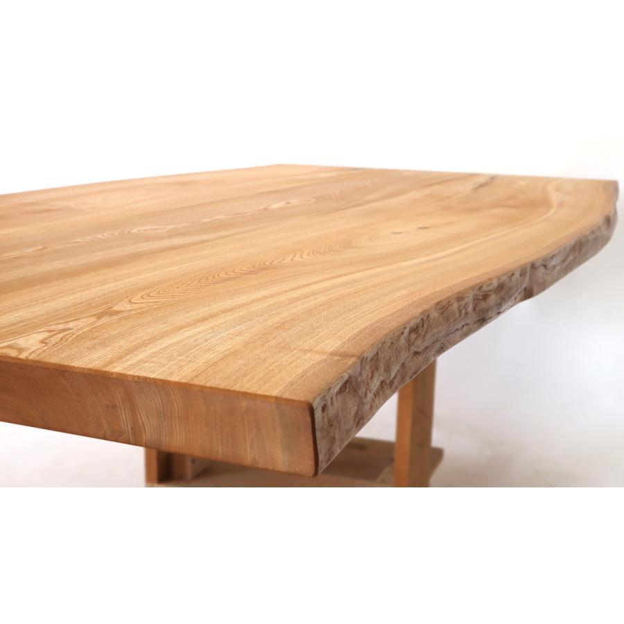 200x約100cm 国産無垢材ダイニングテーブル(オイル仕上)【岩泉純木家具公式ストア】 高さ1ミリ単位でオーダー可 T型脚 セン材 ローテーブル 一枚板風 北欧|junboku|05