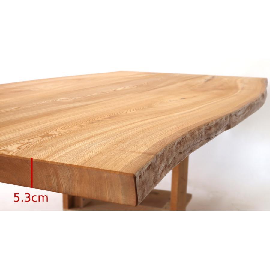 200x約100cm 国産無垢材ダイニングテーブル(オイル仕上)【岩泉純木家具公式ストア】 高さ1ミリ単位でオーダー可 T型脚 セン材 ローテーブル 一枚板風 北欧|junboku|06