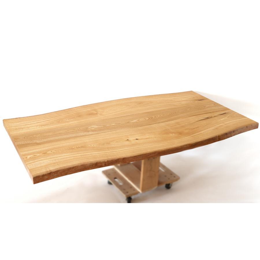 200x約100cm 国産無垢材ダイニングテーブル(オイル仕上)【岩泉純木家具公式ストア】 高さ1ミリ単位でオーダー可 T型脚 セン材 ローテーブル 一枚板風 北欧|junboku|07